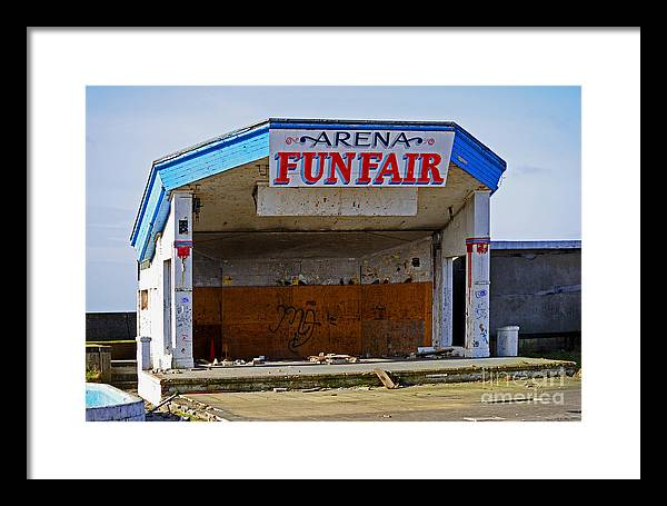 Arena Funfair. Derelict Amusement Arcade. Morecambe Framed Print featuring the photograph Arena Funfair. by Stan Pritchard