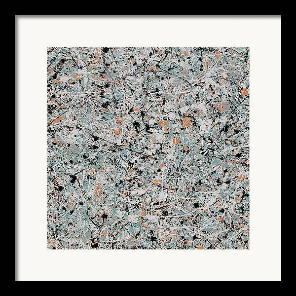 Abstract Framed Print featuring the painting Aria by Jaison Cianelli