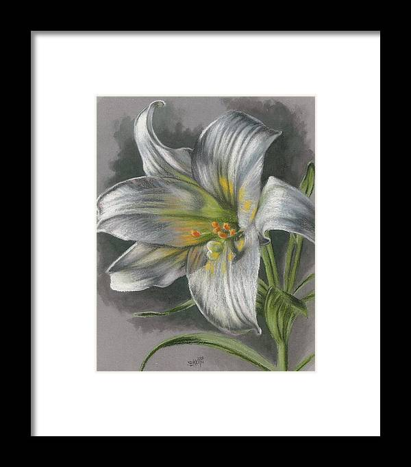 Easter Lily Framed Print featuring the mixed media Arise by Barbara Keith
