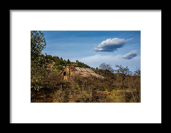 Abandoned Framed Print featuring the photograph Arizona Barn by Dennis Swena