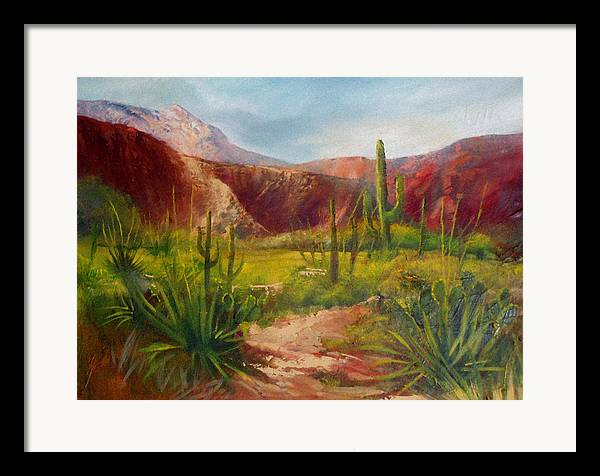 Landscape Framed Print featuring the painting Arizona Beauty by Robert Carver
