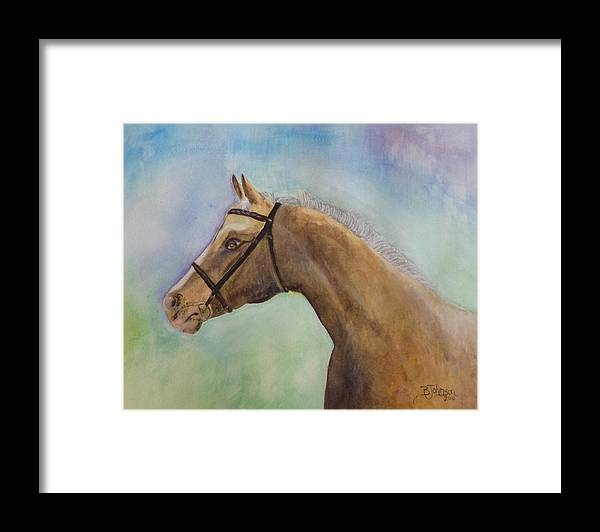 Horse Framed Print featuring the painting Arizona by Beverly Johnson