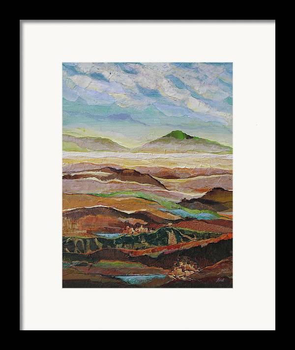 Southwest Mixed Media Framed Print featuring the painting Arizona Reflections Number Five by Don Trout