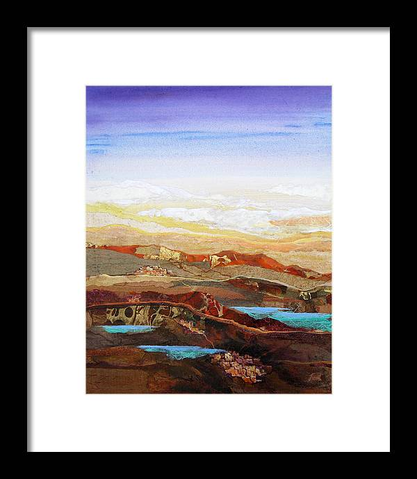 Mixed Media Framed Print featuring the painting Arizona Reflections Number Two by Don Trout