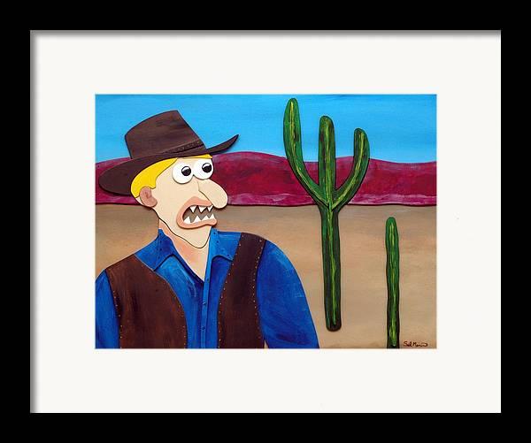 Funsit Framed Print featuring the sculpture Arizona by Sal Marino
