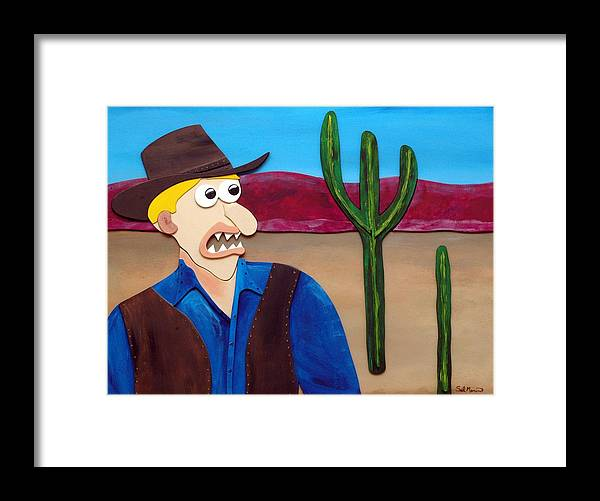 Funsit Framed Print featuring the sculpture Arizona by Sal Marino