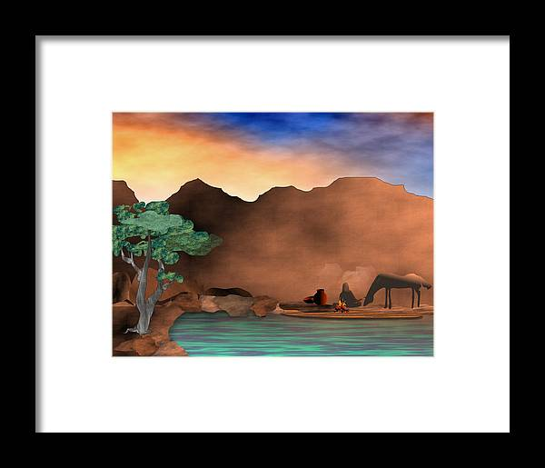 Arizona Framed Print featuring the digital art Arizona Sky by Arline Wagner