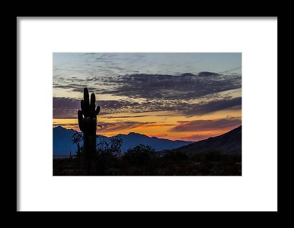 Sky Framed Print featuring the photograph Arizona Sunset by Brigitte Mueller
