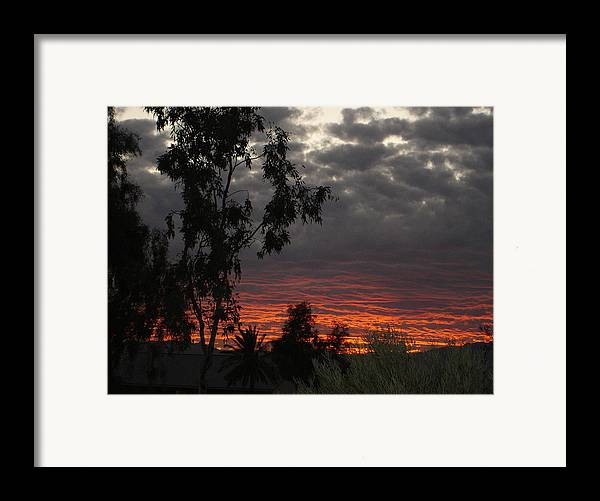 Landscape Framed Print featuring the photograph Arizona Sunset II by Lessandra Grimley