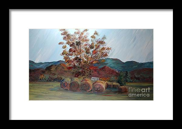 Autumn Framed Print featuring the painting Arkansas Autumn by Nadine Rippelmeyer