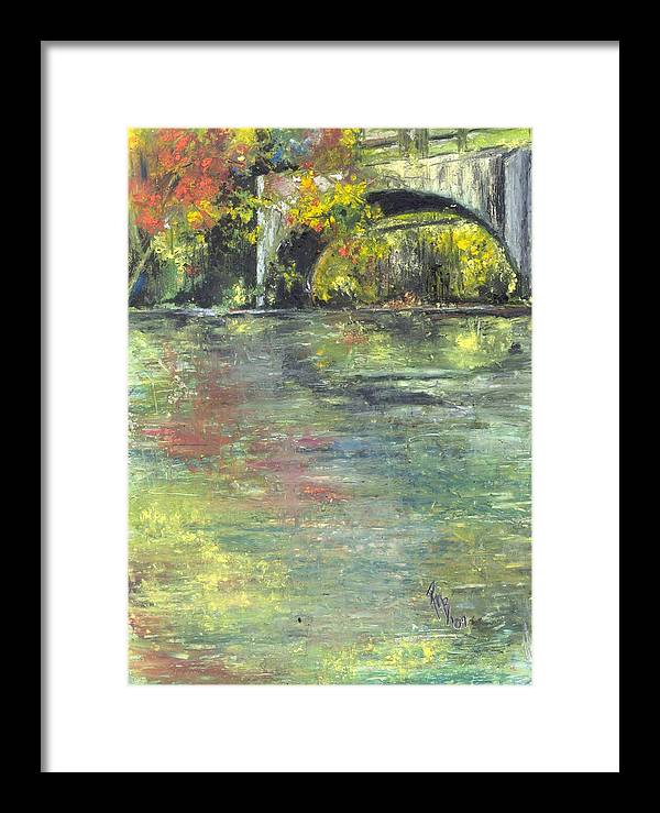 Arkansas Framed Print featuring the painting Arkansas Trestle by Robin Miller-Bookhout
