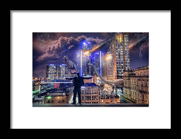 Dj Just Nick Framed Print featuring the photograph Armageddon Detroit by Nicholas Grunas
