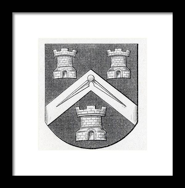 Arms Of Masons Masons Company London Framed Print by Vintage Design Pics