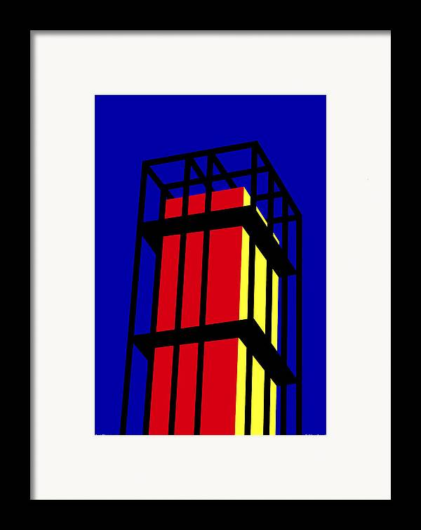 Arne Jacobseb Tower Framed Print featuring the digital art Arne Jacobseb Tower by Asbjorn Lonvig