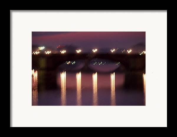 Bridge Framed Print featuring the photograph Arno River Reflections by Brad Rickerby