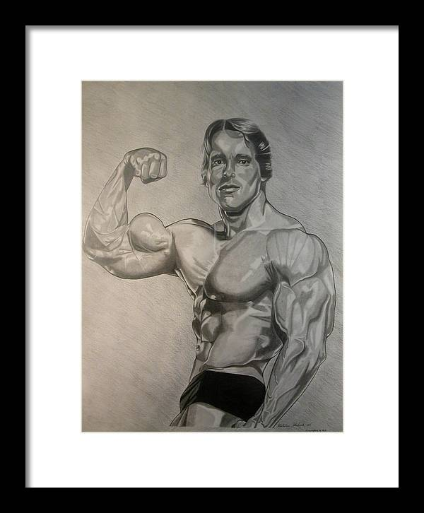 Pencil Framed Print featuring the drawing Arnold by Nick H