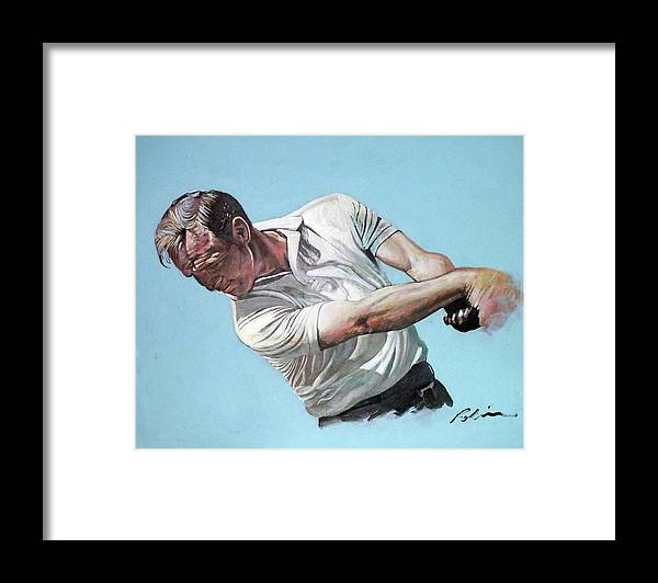 Arnold Palmer Framed Print featuring the painting Arnold Palmer- the King by Mark Robinson