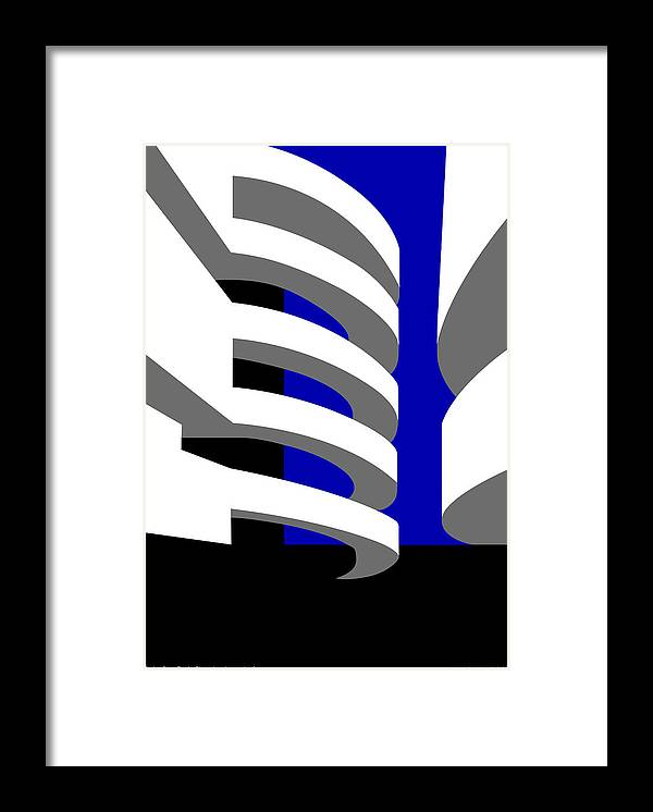 Aros Art Museum Framed Print featuring the digital art Aros Art Museum by Asbjorn Lonvig