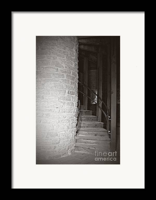Staircase Framed Print featuring the photograph Around The Corner by Giliane Mansfeldt