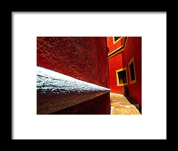 Darian Day Framed Print featuring the photograph Around The Corner by Mexicolors Art Photography