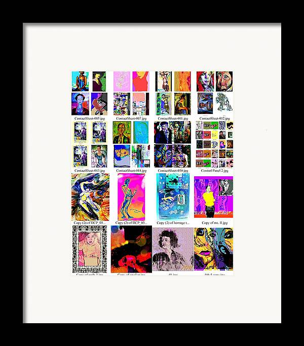 Framed Print featuring the painting Arrangement 2 by Noredin Morgan