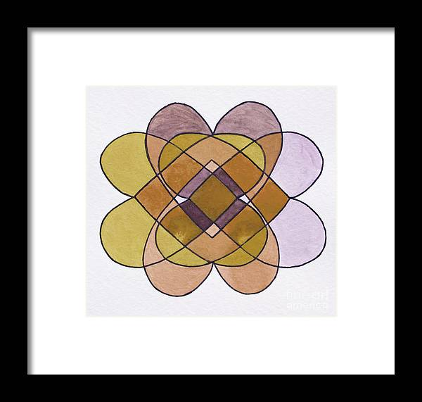 Form Framed Print featuring the digital art Arrangement Of Forms by Norma Appleton