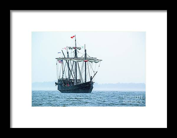 Pinta Framed Print featuring the photograph Arrival by Charles Norkoli