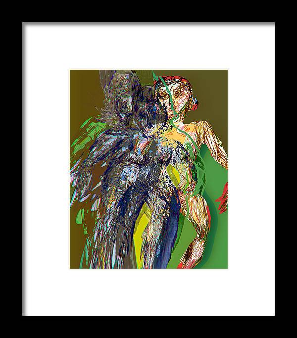 Women Framed Print featuring the painting Arrival by Noredin Morgan