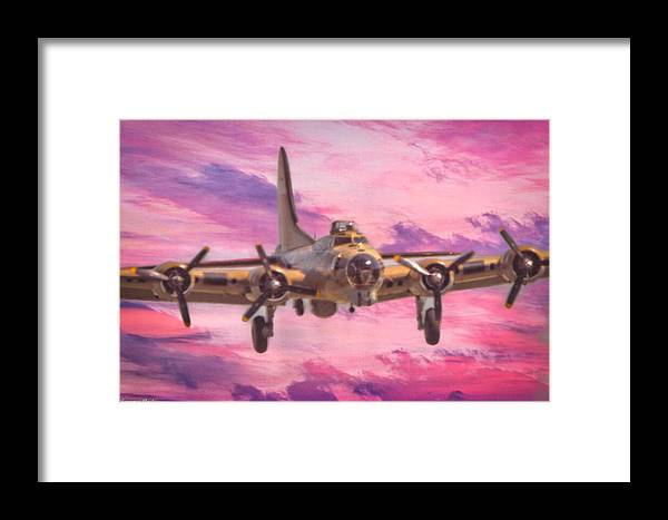 Boeing B-17g Flying Fortress Framed Print featuring the photograph Arrival Of A Fortress by Tommy Anderson