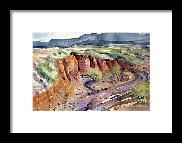 Arroyo Framed Print featuring the painting Arroyo by Donald Maier