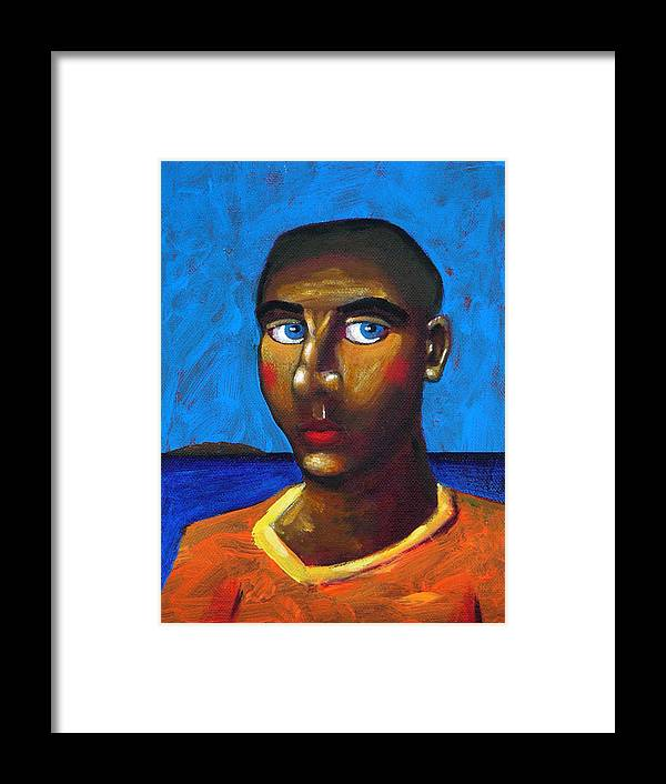 Arsonist Framed Print featuring the painting Arsonist by Dimitris Milionis