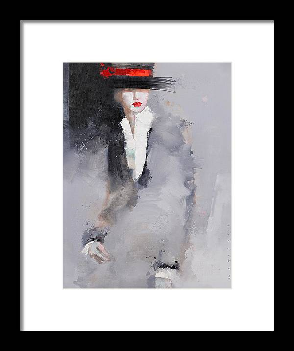 Girl Framed Print featuring the painting Photographed by Viktor Sheleg