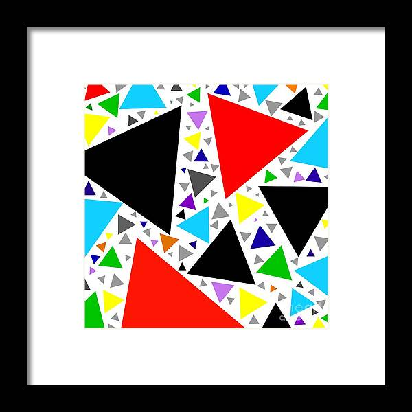 Color Framed Print featuring the digital art Art 6 by Hussein Kefel