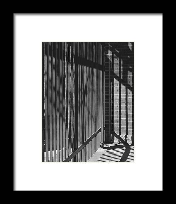 Light And Shadow Framed Print featuring the photograph Art And Design Center Security Gate by Jim Furrer