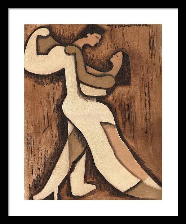 Dancing Framed Print featuring the painting Art Deco Dancing Art Print by Tommervik