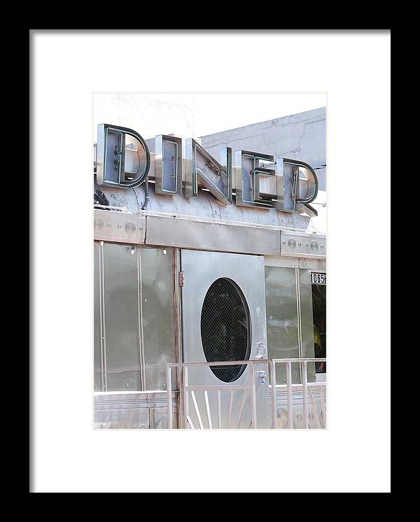 Architecture Framed Print featuring the photograph Art Deco Diner by Rob Hans