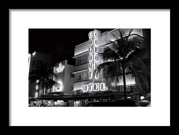 Architecture Framed Print featuring the photograph Art Deco Miami Beach by George Oze