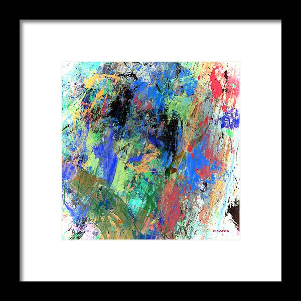 Abstract Framed Print featuring the painting Art Endures by Charles Yates