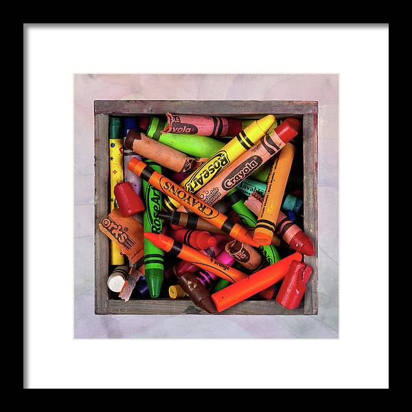 Crayon Framed Print featuring the photograph Art In A Box by Tom Mc Nemar