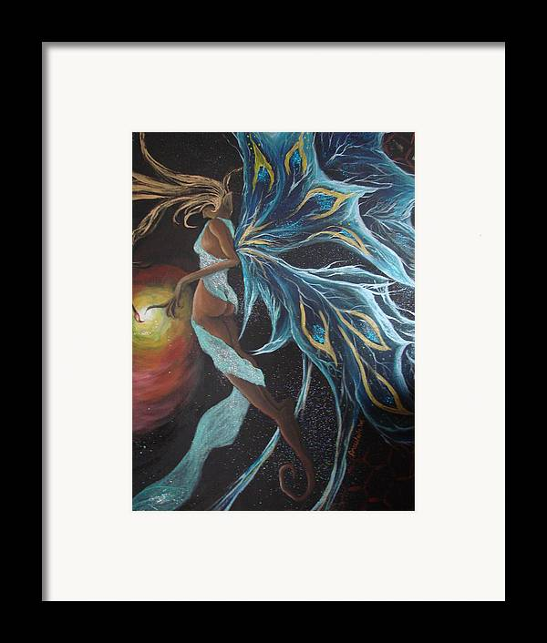 Figure Framed Print featuring the painting Art Is Magic by Glory Fraulein Wolfe