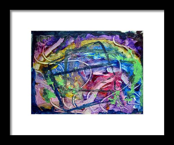 Colors Framed Print featuring the painting Art Leigh 004 by Leigh Odom