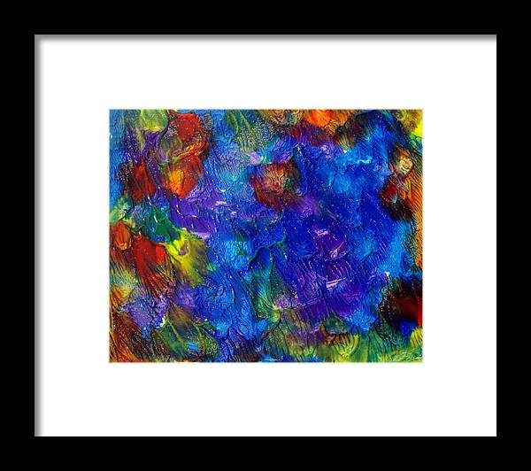 Abstract Framed Print featuring the painting Art Leigh Odom 0001 by Leigh Odom