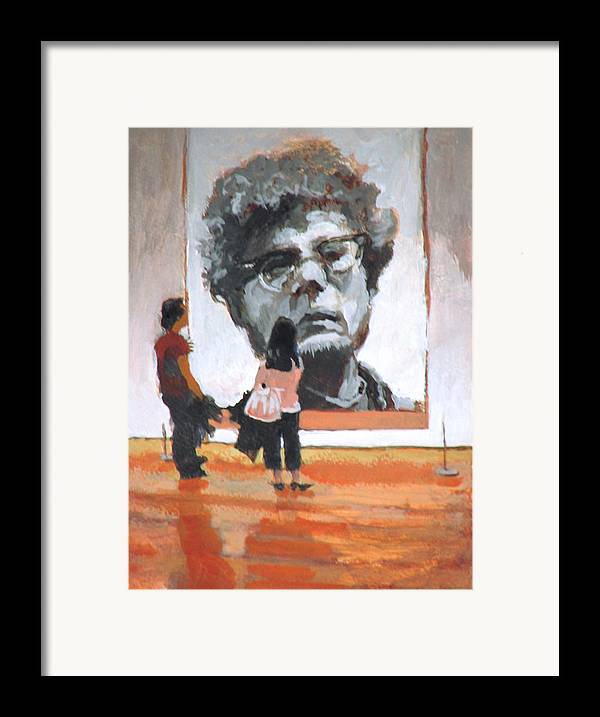 Close Framed Print featuring the painting Art Lovers by Robert Bissett