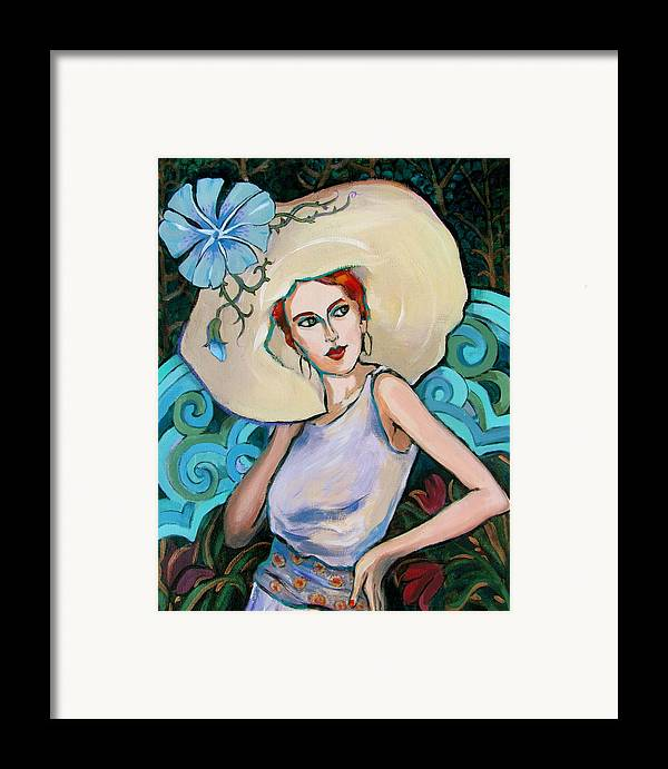 Portrait Framed Print featuring the painting Art Nouveau by Dianna Willman