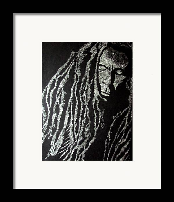 Portrait Framed Print featuring the painting Art Of Freedom by Glory Fraulein Wolfe