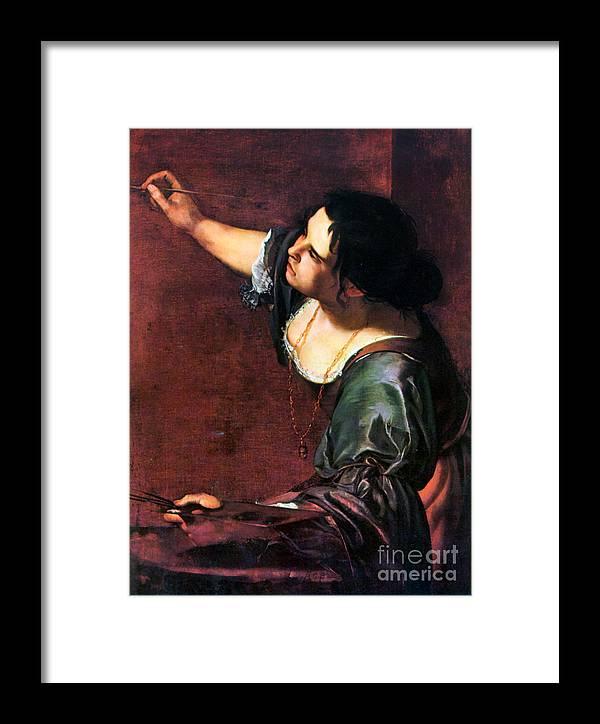 Artemisia Framed Print featuring the photograph Artemisia Gentileschi by Granger