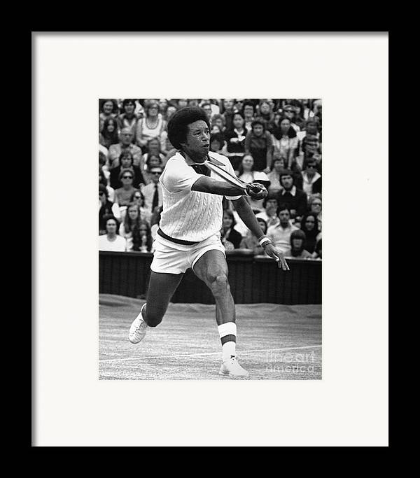 1975 Framed Print featuring the photograph Arthur Ashe (1943-1993) by Granger