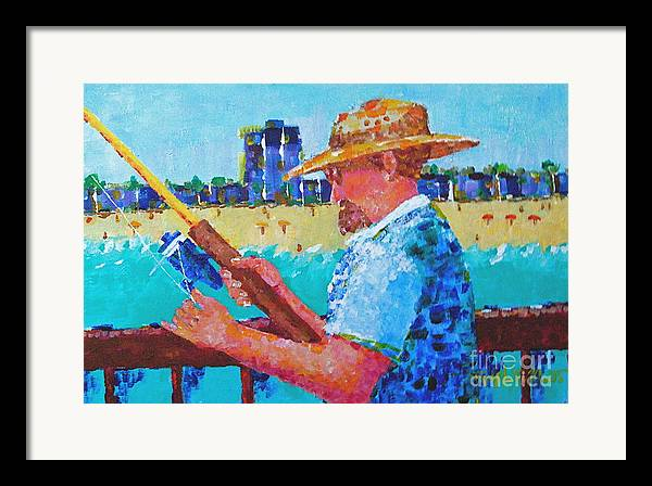 Beach Art Framed Print featuring the painting Artist Life by Art Mantia