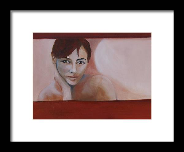 Portrait Framed Print featuring the painting Artist Self Portrait by Niki Sands
