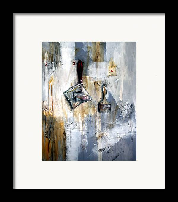 Painting Tools Framed Print featuring the painting Artist Tools by Leyla Munteanu
